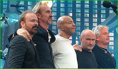 Tour-Besetzung 2007: D. Stuermer, M. Rutherford, C. Thompson, P. Collins, T. Banks
